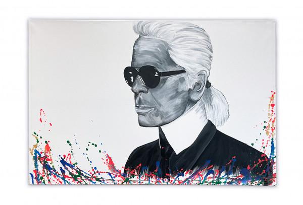 Acrybild Karl Lagerfeld (Unikat)