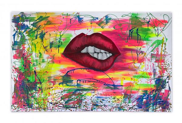 Acrybild Colorful Lips (Unikat)